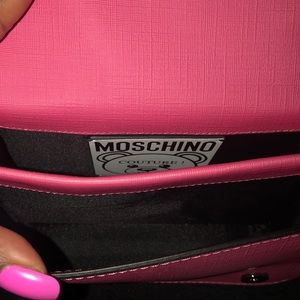 Moschino Bags - Moschino Teddy Bear Pink Eco Leather Crossbody Bag